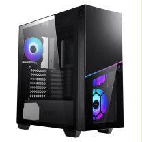 MSI MPG SEKIRA 100R E-ATX Tempered Glass Mid-Tower E-ATX Case - Black