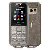 Nokia 800 Tough 4G, LTE, Keypad, Waterproof Phone - Sand