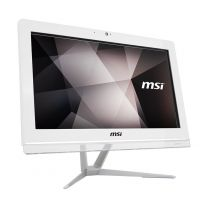 "MSI Pro 20EXTS All-In-One 19.8"" Single-Touch Desktop PC, N4000, 8GB, 256GB SSD - White"