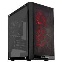 SilverStone Precision RGB Micro-ATX Tempered Glass Window Case - Black