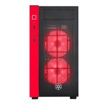 SilverStone Redline Micro-ATX Tempered Glass Window Case - Black/Red