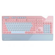 Asus ROG Strix Flare Pink Mechanical RGB Wired Gaming Keyboard - Cherry MX Red