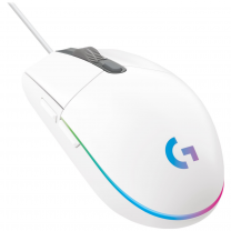 Logitech G203 LightSync RGB Color Wave Optical Gaming Mouse - White