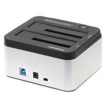 Simplecom SD322 Dual Bay USB 3.0 Aluminium Docking Station - Silver