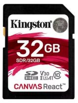 Kingston Canvas React 32GB SDHC UHS-I U3 Memory Card