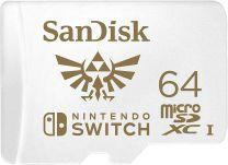 SanDisk and Nintendo MicroSDXC SQXAT U3 C10 - 64GB