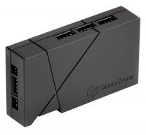 SilverStone LSB01 8-Port RGB LED Control Box with 2 RGB LED Strips