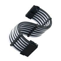 Silverstone P70E 24-Pin ATX Connector Cable - Black/White