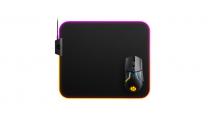 SteelSeries Qck Prism Cloth RGB Gaming Mouse Pad - Medium