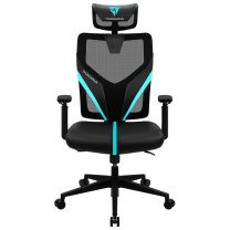 Aerocool ThunderX3 YAMA1 Breathable Ergonomic Gaming Chair - Black/Cyan