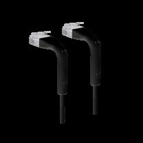 Ubiquiti UniFi Cat6 RJ45 Bendable End Ethernet Patch Cable 22cm - Black