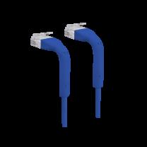Ubiquiti UniFi Cat6 RJ45 Bendable End Ethernet Patch Cable 22cm - Blue