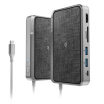 Alogic USB-C Hub 3-In-One Ultra Dock Wave (Power Delivery/Power Bank/Wireless Charger) - Space Grey