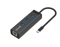Volans HJ45-C Aluminium USB-C to 3-Port USB3.0 Hub +RJ45 Adapter