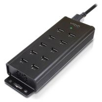 VROVA 10 Port USB Charger with Smart Charge - 10 x 2.4A Outputs (100W) - Aluminium Body (VPLUC10A100)