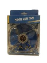 WideTech 120mm Neon 4 Colours LED Fan - Clear