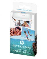 HP ZINK Sticky Backed Photo Paper 20 Pack - SPROCKET