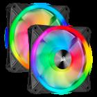 Corsair iCUE QL140 RGB 140mm PWM Dual Fan Kit with Lighting Node